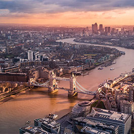 Image of London Bridge from above