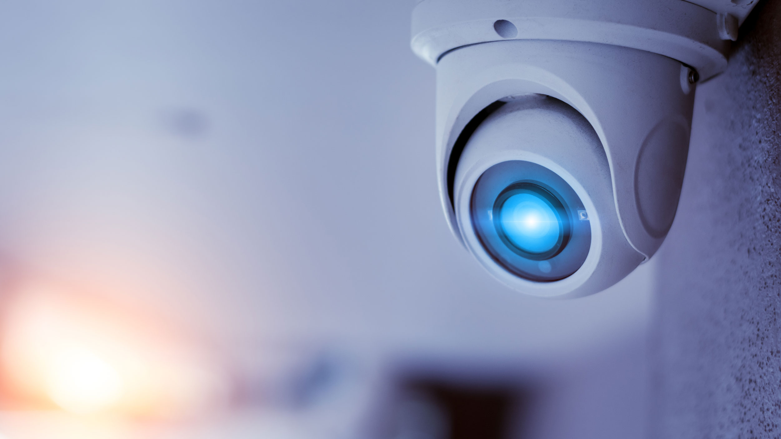 CCTV Camera with Blue Light