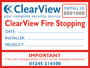 Fire Stopping Label