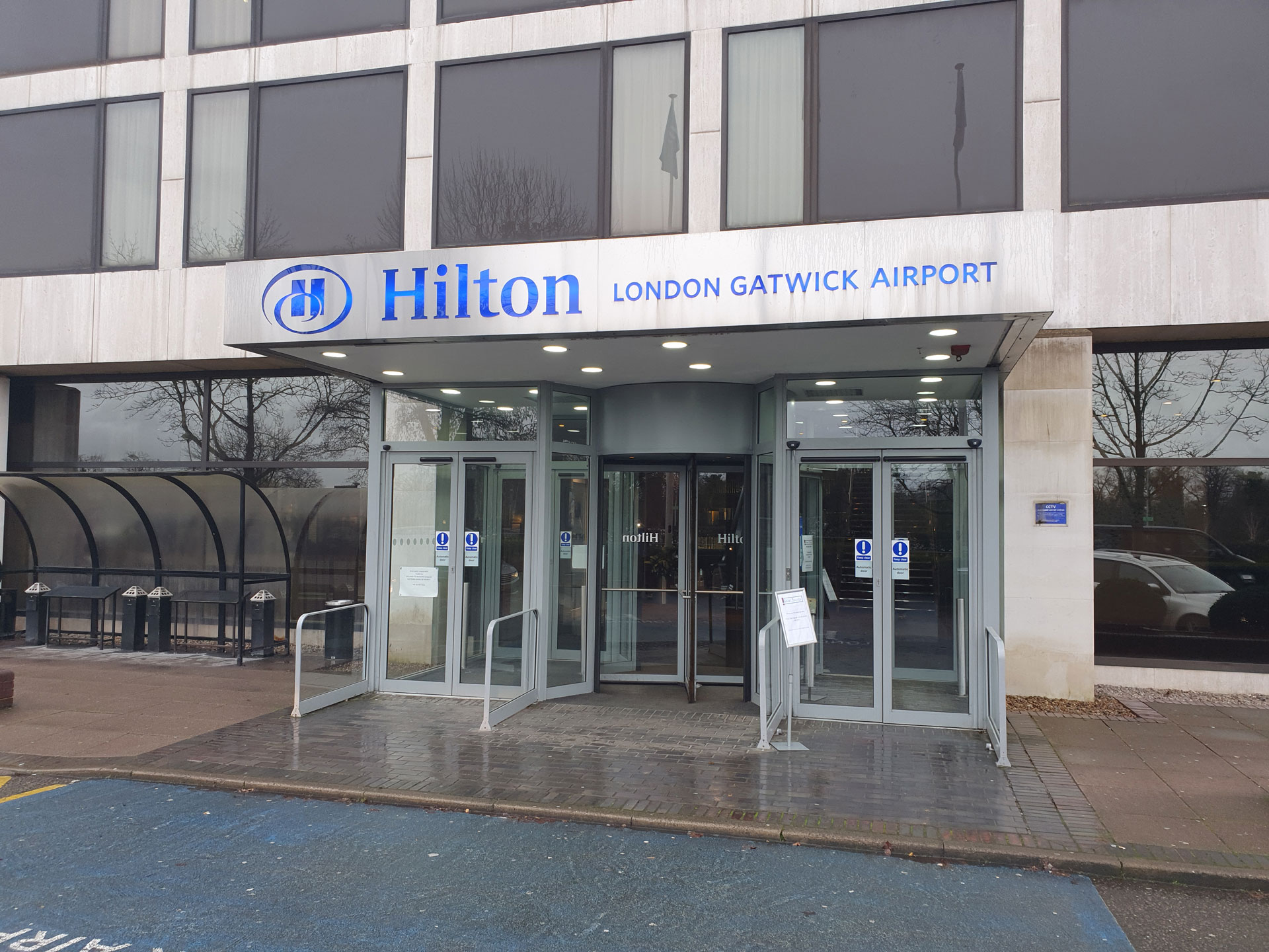 Front of Gatwick Hilton Hotel London