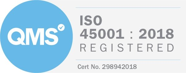 QMS accrediation ISO45001.