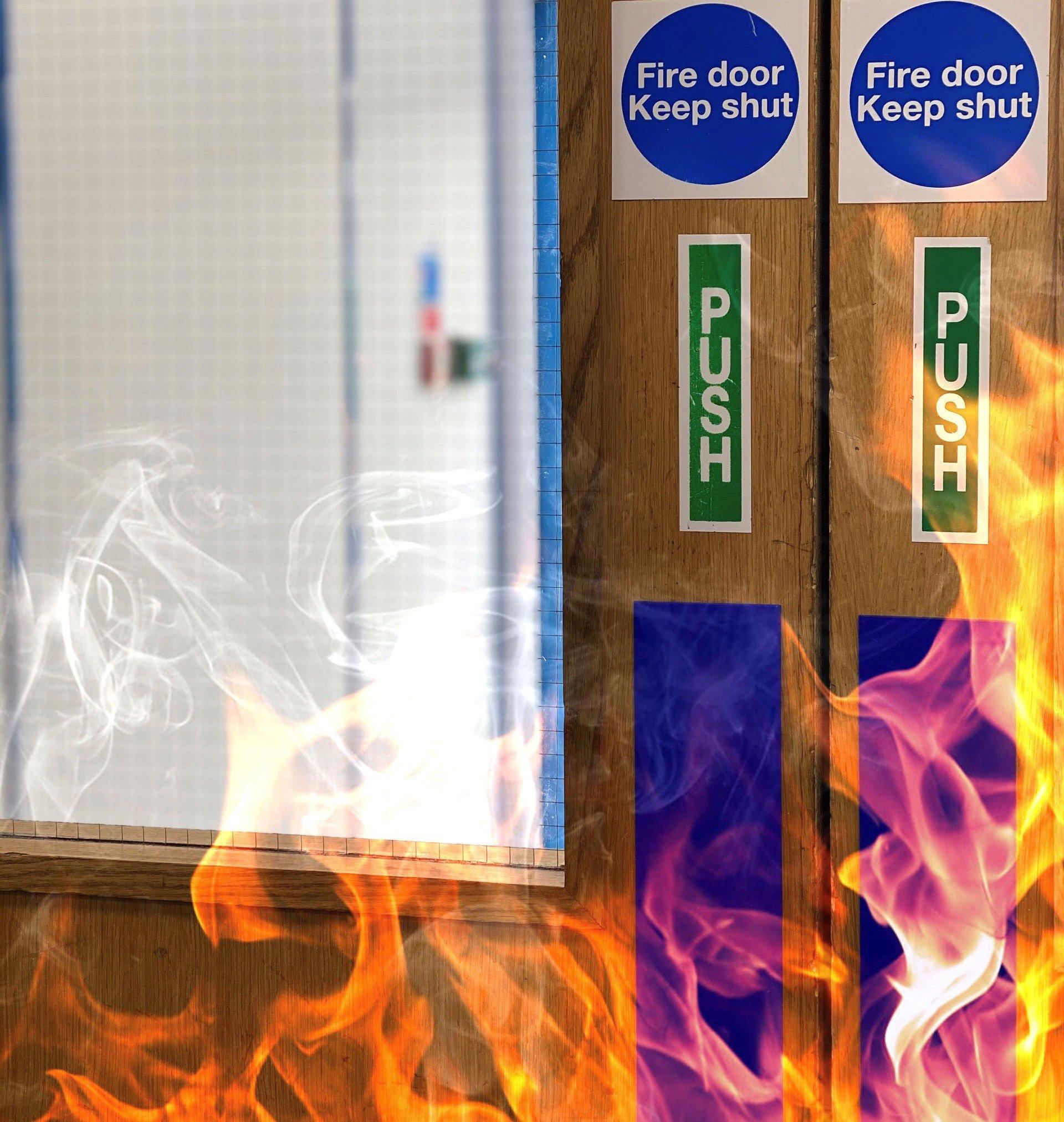 fire door with smoke