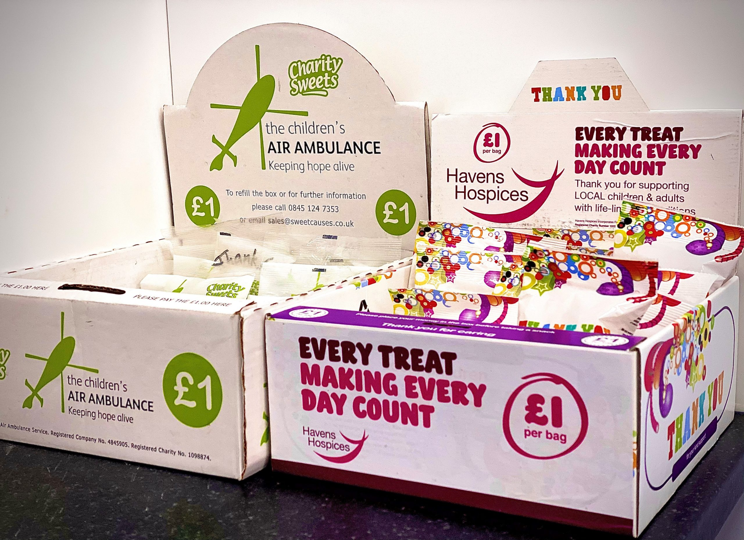 charity sweet boxes