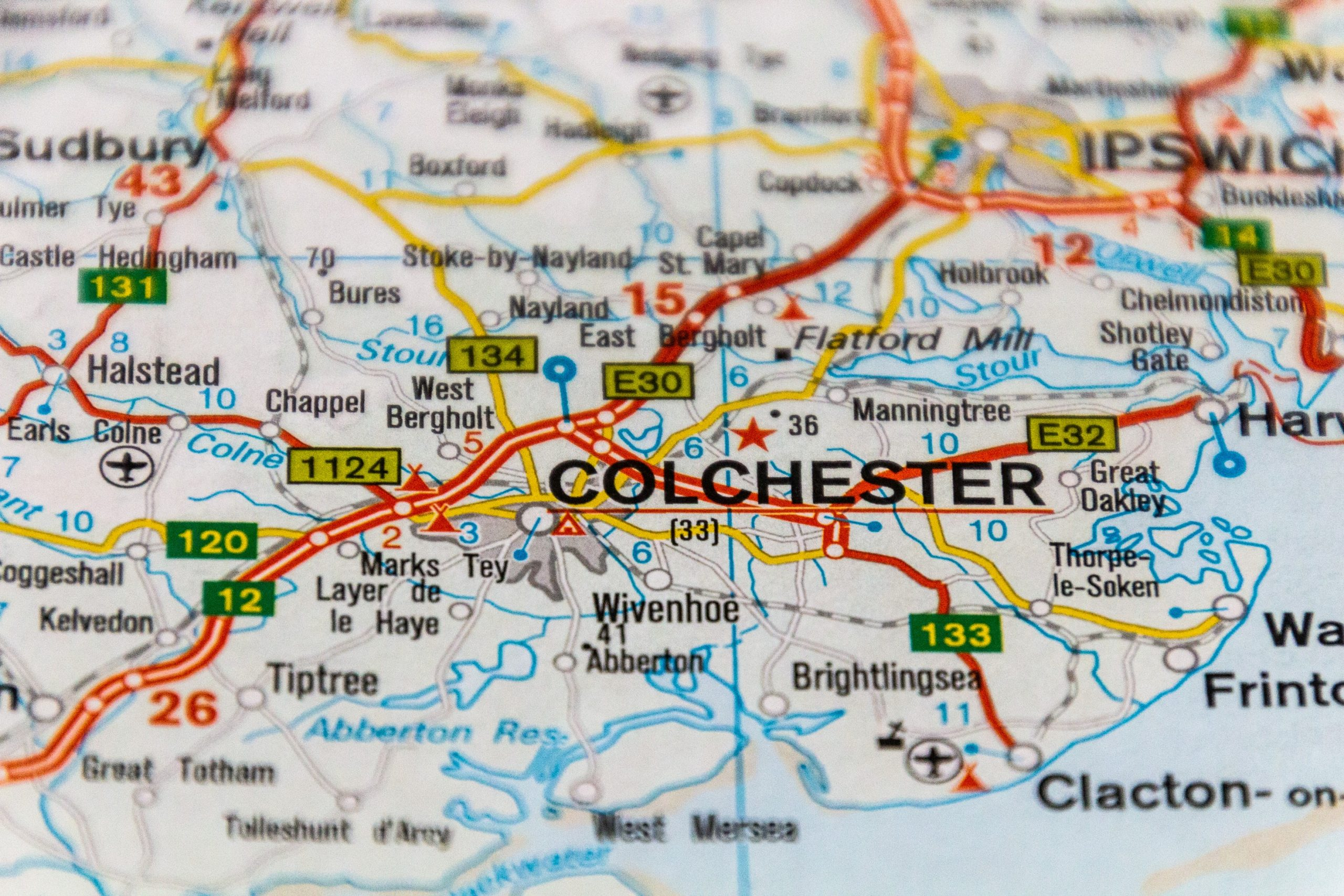colchester map